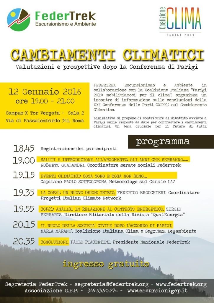 SERATA CLIMA 12 Gennaio