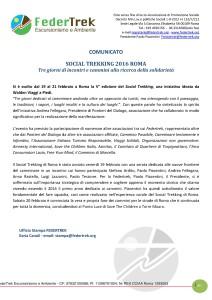 SOCIAL TREKKING ROMA-comunicato finale