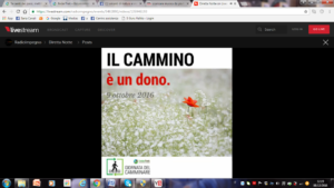 La Giornata del Camminare 2016 - FederTrek - IL CAMMINO E' UN DONO